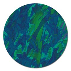 Green And Blue Design Magnet 5  (round) by Valentinaart