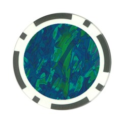 Green And Blue Design Poker Chip Card Guards by Valentinaart