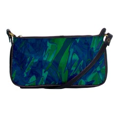 Green And Blue Design Shoulder Clutch Bags by Valentinaart