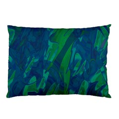 Green And Blue Design Pillow Case (two Sides) by Valentinaart