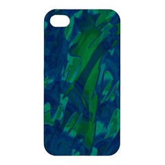 Green And Blue Design Apple Iphone 4/4s Premium Hardshell Case by Valentinaart