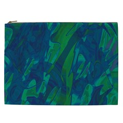 Green And Blue Design Cosmetic Bag (xxl)  by Valentinaart
