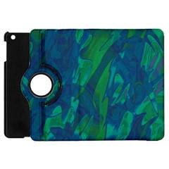 Green And Blue Design Apple Ipad Mini Flip 360 Case by Valentinaart
