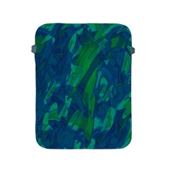 Green And Blue Design Apple Ipad 2/3/4 Protective Soft Cases by Valentinaart