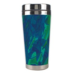 Green And Blue Design Stainless Steel Travel Tumblers