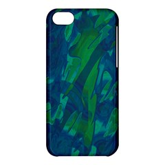 Green And Blue Design Apple Iphone 5c Hardshell Case by Valentinaart