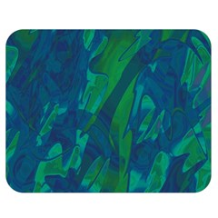 Green And Blue Design Double Sided Flano Blanket (medium)  by Valentinaart