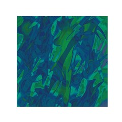 Green And Blue Design Small Satin Scarf (square) by Valentinaart