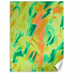 Green And Orange Abstraction Canvas 36  X 48   by Valentinaart