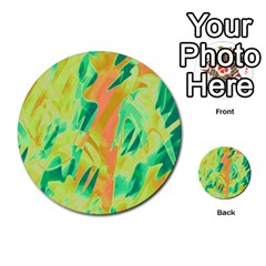 Green And Orange Abstraction Multi Purpose Cards (round)  by Valentinaart