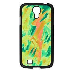 Green And Orange Abstraction Samsung Galaxy S4 I9500/ I9505 Case (black) by Valentinaart