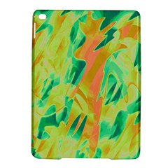 Green And Orange Abstraction Ipad Air 2 Hardshell Cases by Valentinaart