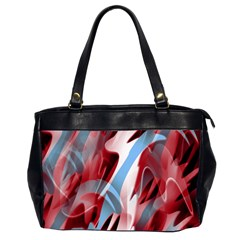 Blue and red smoke Office Handbags (2 Sides)
