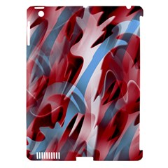 Blue And Red Smoke Apple Ipad 3/4 Hardshell Case (compatible With Smart Cover) by Valentinaart