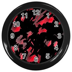 Painter Was Here  Wall Clocks (black) by Valentinaart