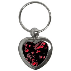 Painter Was Here  Key Chains (heart)  by Valentinaart