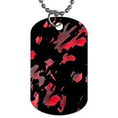 Painter Was Here  Dog Tag (two Sides) by Valentinaart