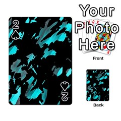 Painter Was Here   Cyan Playing Cards 54 Designs  by Valentinaart
