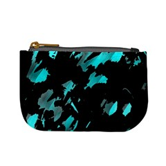 Painter Was Here   Cyan Mini Coin Purses by Valentinaart