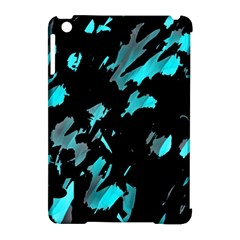 Painter Was Here   Cyan Apple Ipad Mini Hardshell Case (compatible With Smart Cover) by Valentinaart