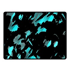 Painter was here - cyan Double Sided Fleece Blanket (Small)  by Valentinaart