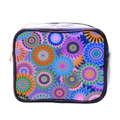 Funky Flowers B Mini Toiletries Bags by MoreColorsinLife