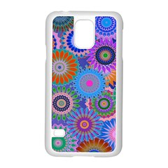 Funky Flowers B Samsung Galaxy S5 Case (white) by MoreColorsinLife