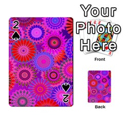 Funky Flowers C Playing Cards 54 Designs  by MoreColorsinLife