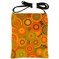 Funky Flowers D Shoulder Sling Bags by MoreColorsinLife