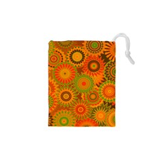 Funky Flowers D Drawstring Pouches (XS)  by MoreColorsinLife