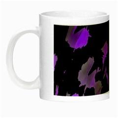 Painter Was Here   Purple Night Luminous Mugs by Valentinaart