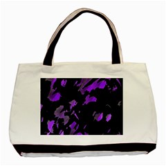 Painter Was Here   Purple Basic Tote Bag by Valentinaart