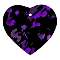 Painter Was Here   Purple Heart Ornament (2 Sides) by Valentinaart