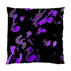 Painter Was Here   Purple Standard Cushion Case (two Sides) by Valentinaart
