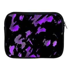 Painter Was Here   Purple Apple Ipad 2/3/4 Zipper Cases by Valentinaart