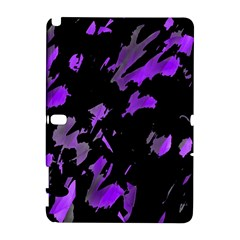 Painter Was Here   Purple Samsung Galaxy Note 10 1 (p600) Hardshell Case by Valentinaart