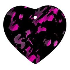 Painter Was Here   Magenta Ornament (heart)  by Valentinaart