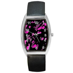 Painter Was Here   Magenta Barrel Style Metal Watch by Valentinaart