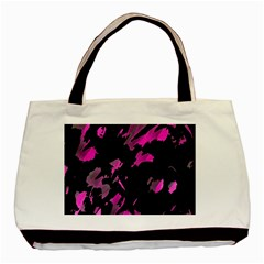 Painter Was Here   Magenta Basic Tote Bag by Valentinaart