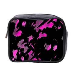 Painter Was Here   Magenta Mini Toiletries Bag 2 Side by Valentinaart
