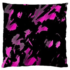 Painter Was Here   Magenta Large Cushion Case (one Side) by Valentinaart