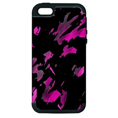 Painter Was Here   Magenta Apple Iphone 5 Hardshell Case (pc+silicone) by Valentinaart