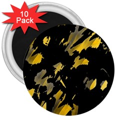 Painter Was Here   Yellow 3  Magnets (10 Pack)  by Valentinaart