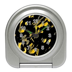 Painter Was Here   Yellow Travel Alarm Clocks by Valentinaart