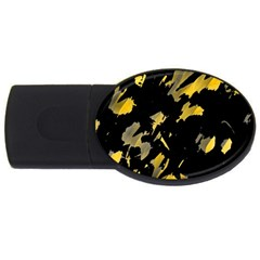 Painter Was Here   Yellow Usb Flash Drive Oval (4 Gb)  by Valentinaart