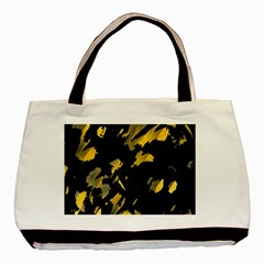 Painter Was Here   Yellow Basic Tote Bag by Valentinaart