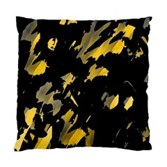Painter Was Here   Yellow Standard Cushion Case (two Sides) by Valentinaart