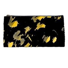 Painter Was Here   Yellow Pencil Cases by Valentinaart