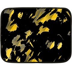 Painter Was Here   Yellow Double Sided Fleece Blanket (mini)  by Valentinaart