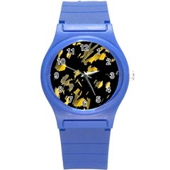 Painter Was Here   Yellow Round Plastic Sport Watch (s) by Valentinaart